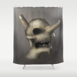 Skull and fingers Shower Curtain