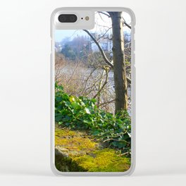 Walk on the River Bank Clear iPhone Case