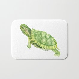 Turtle Watercolor Bath Mat