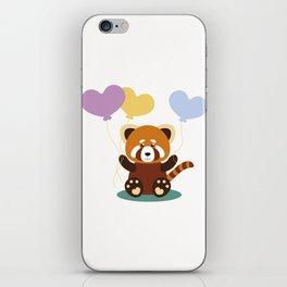 Lovely Red Panda iPhone Skin