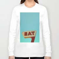 eat Long Sleeve T-shirts featuring Eat by bomobob