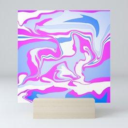 Pink and Blue Mini Art Print