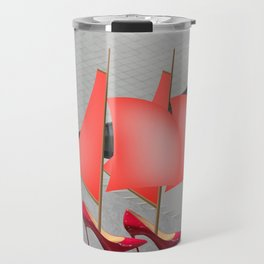 May Flying to the Museum - shoes stories Travel Mug