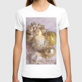 Golden christmas ball T-shirt
