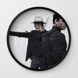 Raylan and Boyd 4 Wall Clock