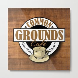 Common Grounds Cafe Logo Metal Print