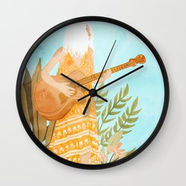 Music Soothes My Soul Wall Clock