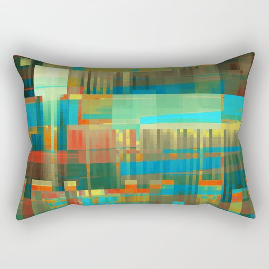finding a balance Rectangular Pillow