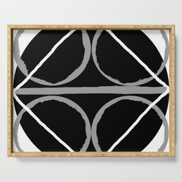 Geometric Unity Centered in a Circle Serving Tray