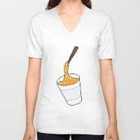 ramen V-neck T-shirts featuring Ramen by grandsloop