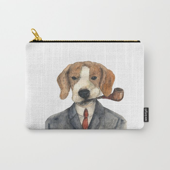 Monsieur Beagle Carry-All Pouch