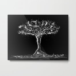 pointillism tree Metal Print