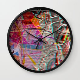 Trimensional°Hitchhiking^Guide Wall Clock