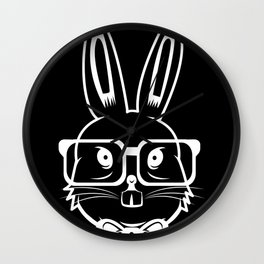 Hipster bunny bunny glasses Easter gift Wall Clock