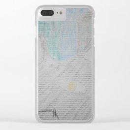 Graffiti Fat Cat Clear iPhone Case
