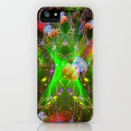 Bioluminescent Plankton and Jellyfish iPhone Case