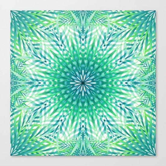 Palm Leaf Mandala Canvas Print