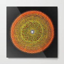 Healing Circle mandala Metal Print