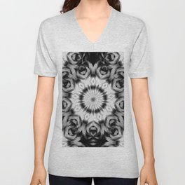 Abstract 09 black and grey pattern Unisex V-Neck