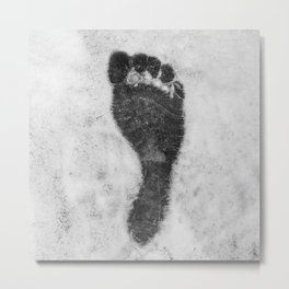 Footprint in the show Metal Print
