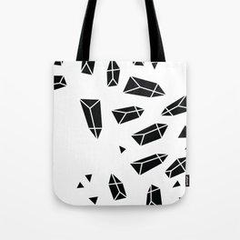 Black Crystals Tote Bag