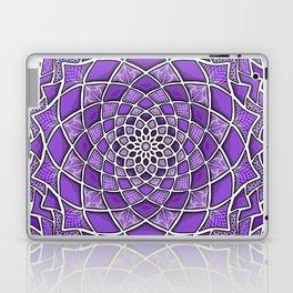 12-Fold Mandala Flower in Purple Laptop & iPad Skin