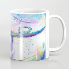 Just the Three of Us, Abstract Art Painting Coffee Mug
