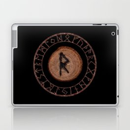 Raidho Elder Futhark Rune Travel, journey, vacation, relocation, evolution, change of place Laptop & iPad Skin
