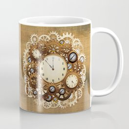 Steampunk Vintage Style Clocks and Gears Coffee Mug