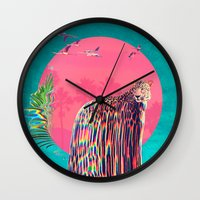 jaguar Wall Clocks featuring Jaguar by Ali GULEC