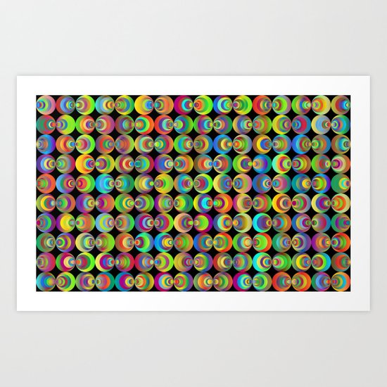 Retro circles Art Print