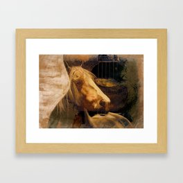 Horse Guitar Abstract Framed Art Print
