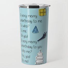 Very Merry Unbirthday Travel Mug