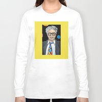 snl Long Sleeve T-shirts featuring Will Ferrell as Harry Caray SNL by Portraits on the Periphery