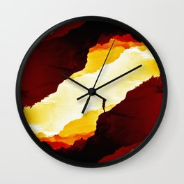 Red Isolation Wall Clock