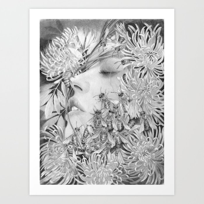 Apiphobia - Fear of Bees Art Print