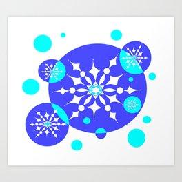 A Delightful Winter Snow Design Art Print
