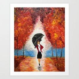 """Red Rain"" Art Print"
