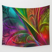 luigi Wall Tapestries featuring Fabulous Petals by Klara Acel