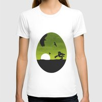 egg T-shirts featuring Egg by Broenner