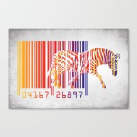 zebra Canvas Prints featuring zebra  by mark ashkenazi