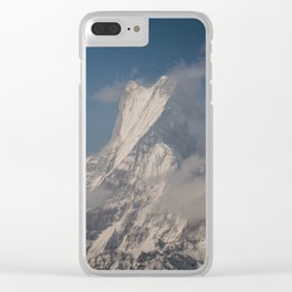 Fishtail Mountain Clear iPhone Case