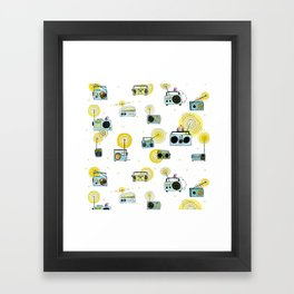 Listen Up! Radio Birds Framed Art Print