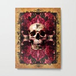 Deaths Head Moth Metal Print