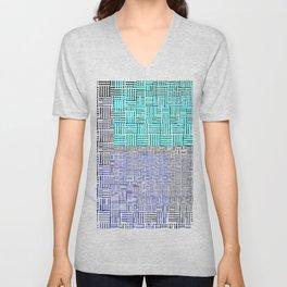 Abstract City Block Unisex V-Neck
