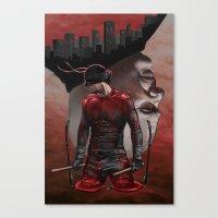 daredevil Canvas Prints featuring Daredevil by Kiptoe