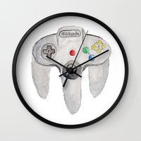 nintendo Wall Clocks featuring Nintendo 64 by Zoë Hayman