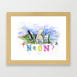 Neon Boneyard Las Vegas Framed Art Print