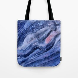 Blue watercolor marble Tote Bag