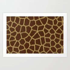 Animal Patterns - Giraffe Art Print